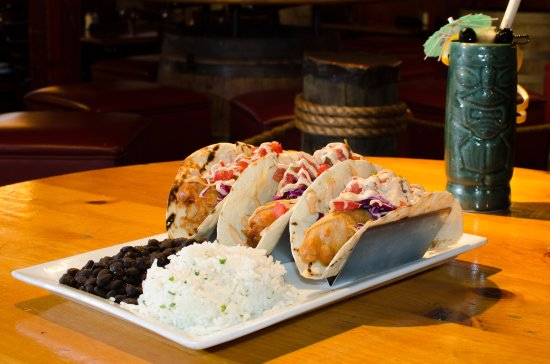 Glen Burnie, MD: Fish Tacos with Basmati Rice and Black Beans