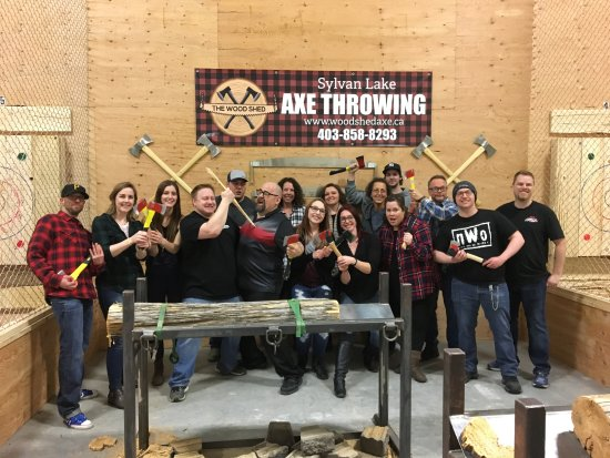 The Wood Shed - Axe Throwing: Company Party