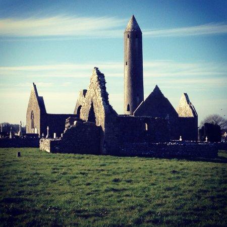 Kilmacduagh Tower: Kilmacduagh Monastery, Co. Clare, Ireland