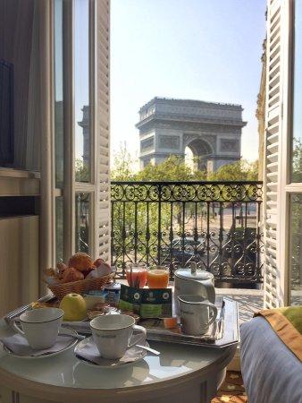 Breakfast With A View Picture Of Hôtel Splendid étoile Paris Tripadvisor