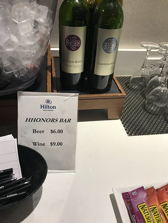 Rye Brook, NY: over priced executive lounge horrible wine