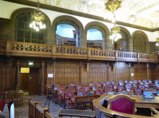 Sheffield, UK: The main council chamber