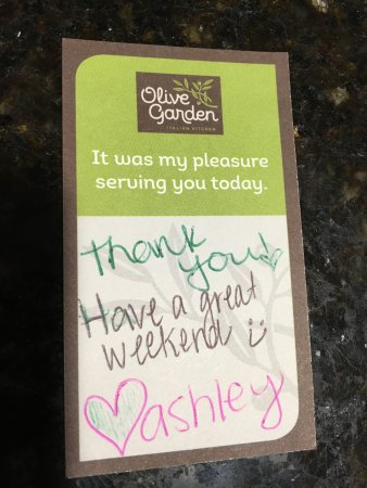 Christiana, DE: Server Thank You Card