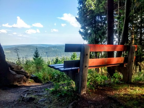 Ilmenau, Alemania: One of the ilusive benches with a million dollar view