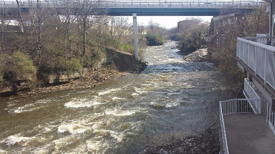 Cuyahoga Falls, OH: Beautiful river view from the patio........