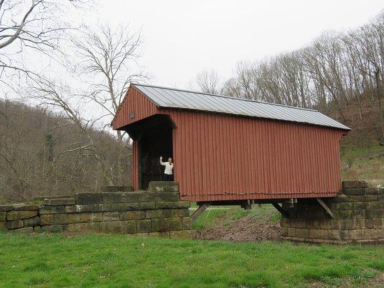 Roanoke, Wirginia Zachodnia: Covered Bridge at Walkersville -- 8 miles