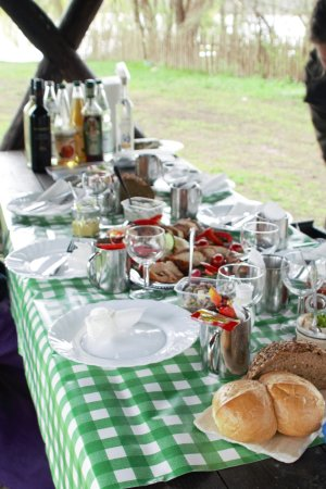 Isola di Usedom, Germania: Wunderbares Abendessen mit Atmosphäre