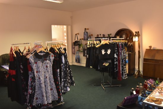 Rotherham, UK: Back room; alternative clothing, jewellery, gift & accessories.
