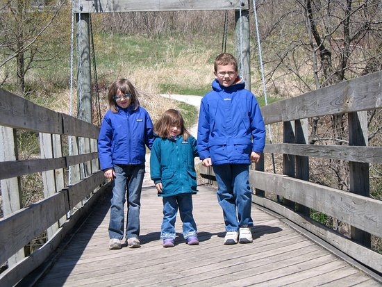 Sheboygan, WI: Kids on the bridge in early spring (a few years ago)
