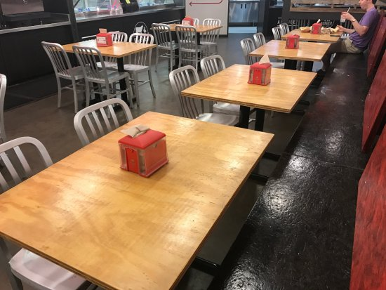 Centerville, TX: Pressed particle board tables
