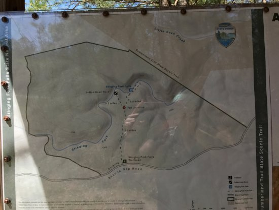 Spring City, Теннесси: Map at beginning of hike
