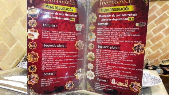 Carta picture of restaurante marrakesh valencia - Restaurante entrevins valencia ...