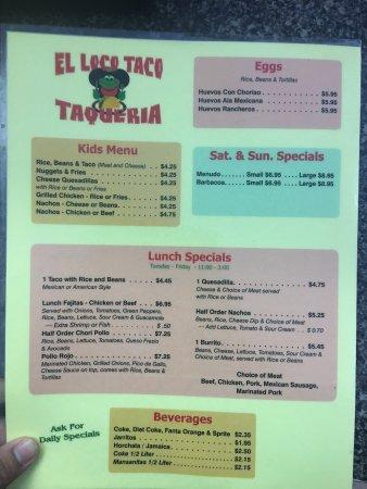 Kingsport, TN: El Loco Taco Taqueria