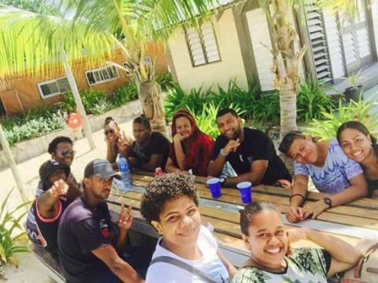 Beachcomber Island, Fiji: sunday lunch