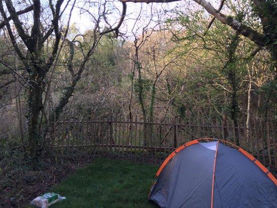 Pendoggett, UK: My little lake view pitch.