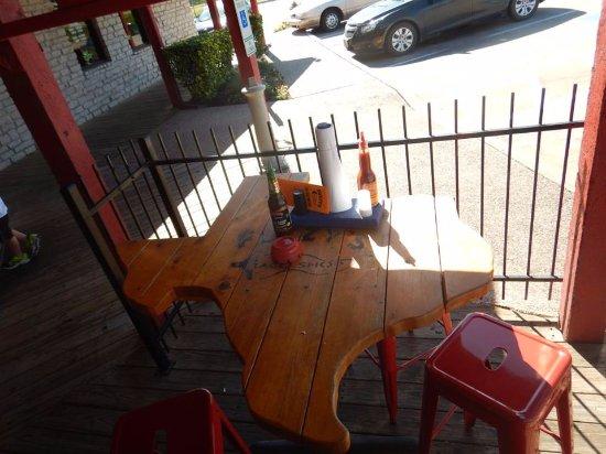 Kool Texas shaped table