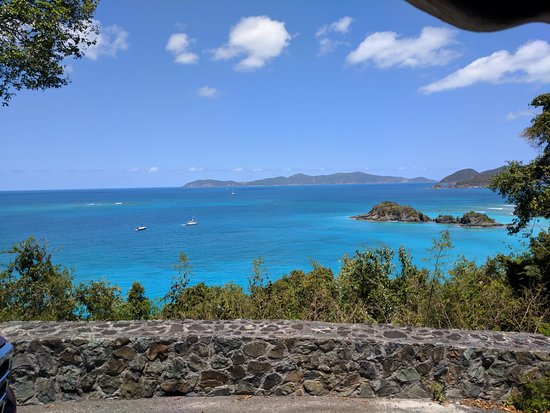 View of Trunk Bay from a nearby overlook point