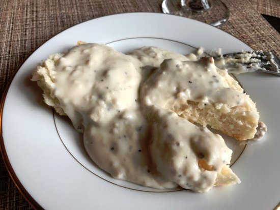 Mountain City, TN: Sausage gravy and Biscuit