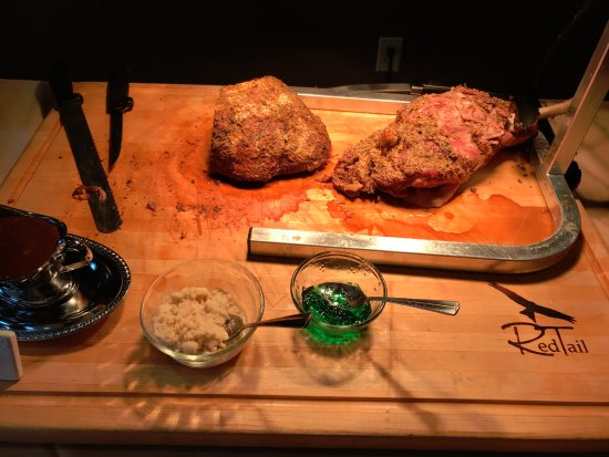 Vista's Land and Sea: Carving Station (and REAL HORSERADISH)