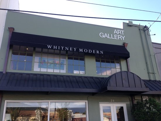 Los Gatos, Kaliforniya: Second floor art gallery, Whitney Modern