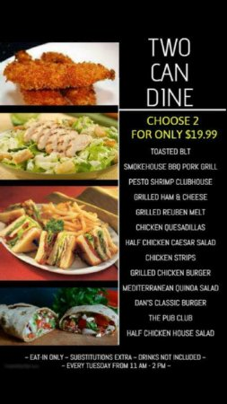 "Fort Nelson, Canadá: Two Can Dine for $19.99""...  .. available from open 'til close every Tuesday!"