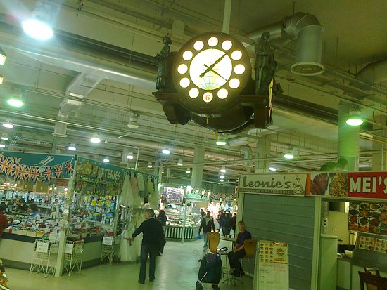 the clock that was once in the old bullring market still here and was put  in this place in 2000 - Picture of Birmingham Open Market - Tripadvisor