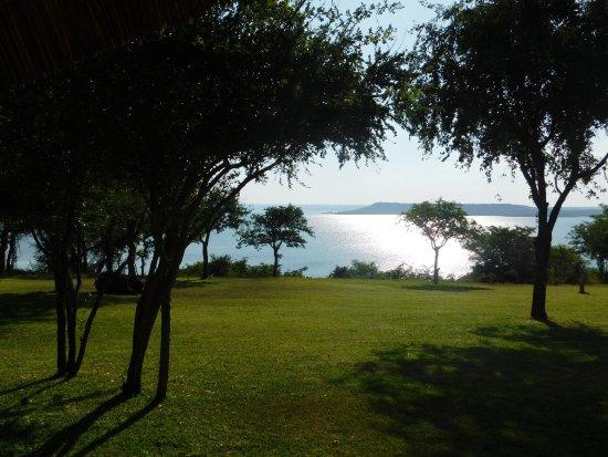 Massingir, Mozambique: Aussicht vom Restaurant/Bar