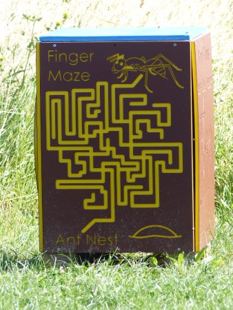 Purfleet, UK: Finger Maze at Rainham Marshes
