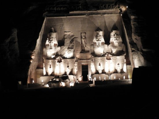 Sound and Light Show - Abu Simbel: One scene from the Sound & Light Show at Abu Simbel