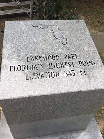 DeFuniak Springs, FL: Britton Hill - The summit of Britton Hill, the state of Florida's highest point at 345 feet (105