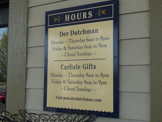 Der Dutchman Restaurant Plain City Oh