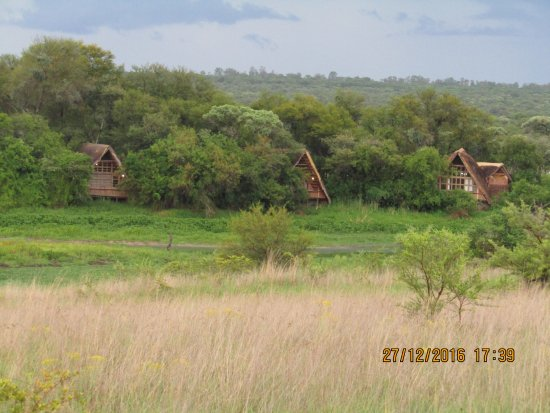 Gweru, Zimbábue: Bush chalets overlooking a small river....magnificent!!