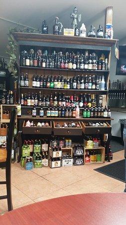 Minden, NV: Bottle beer display