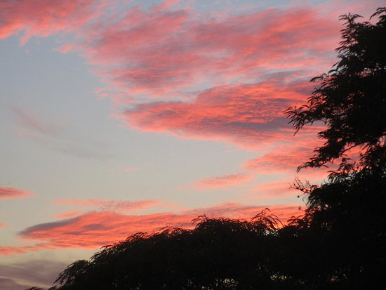 San Juan Cosala, Mexico: sunset as viewed from the restaurant