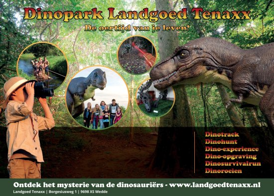 Dinopark Landgoed Tenaxx in Wedde