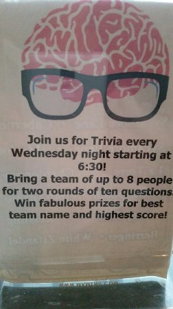 Minden, NV: Trivia Night EVERY Wednesday at 630pm!!