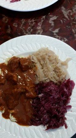 Webster, TX: Beef Goulash with Sauerkraut & Red Cabbage