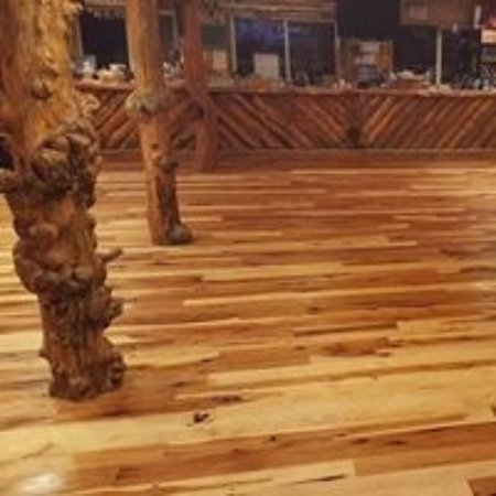 Island Park, ID: New Floor in Bar