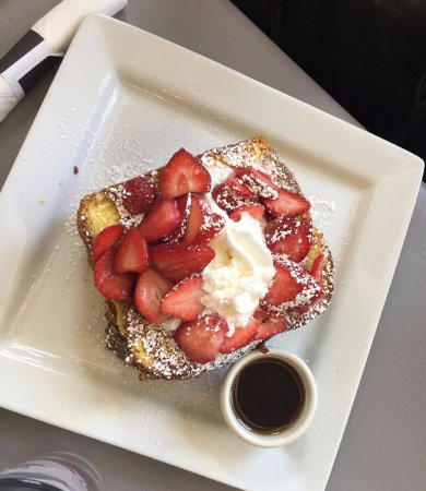 Rochester, MI: Fruit Mascarpone Stuffed French Toast with strawberries