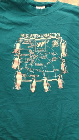 Stanley, Falkland Islands: Favorite shirt! Available in many colors. Wrinkled from dirty laundry basket