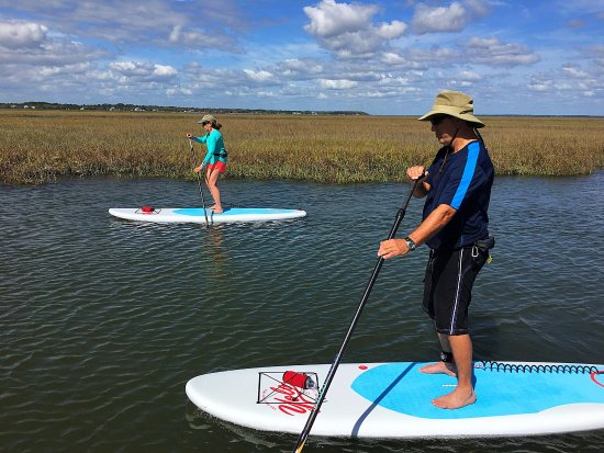 Fernandina Beach, FL: Paddle boarding lessons Amelia Island