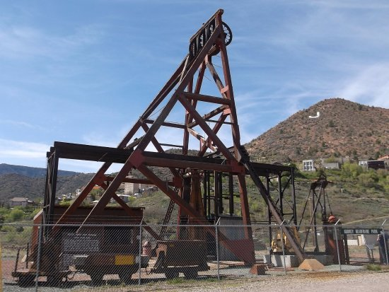 Jerome, AZ: Mining operation before you go up into the park.