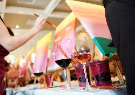 Paint And Sip Night At The Painted Palette Picture Of