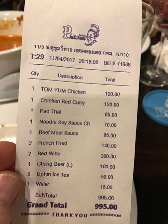 Excellent rapport qualit prix nous avons t tr s bien for P kitchen restaurant bangkok