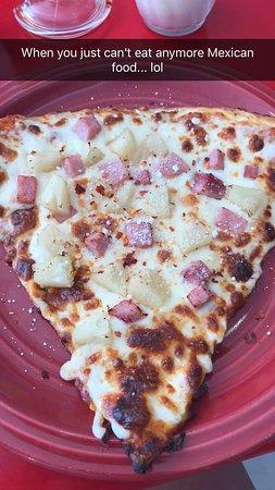 Wicked Pizza: Hawaiian Pizza. So, so good.