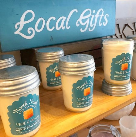 Cutchogue, NY: Suds & Muds Soy Candles made with local honey.
