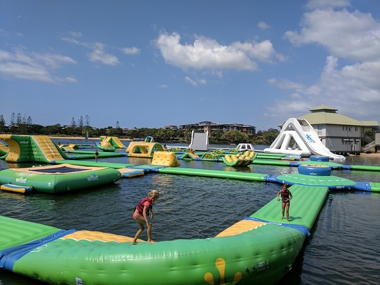 Coolum Beach, Αυστραλία: Red Jacket Sunshine Coasts original Aqua Fun Park relocated to Novotel Twin Waters