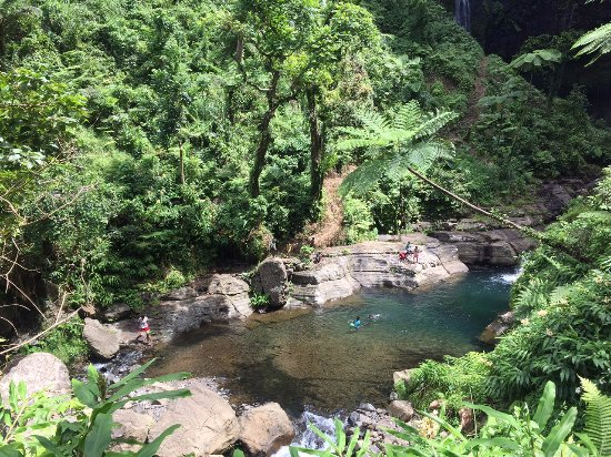 Suva, Fiji: natural pool on the way to the waterfall
