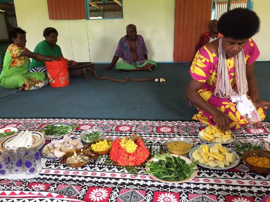 Suva, Fiji: such a nice lunch prepared by the village ladies