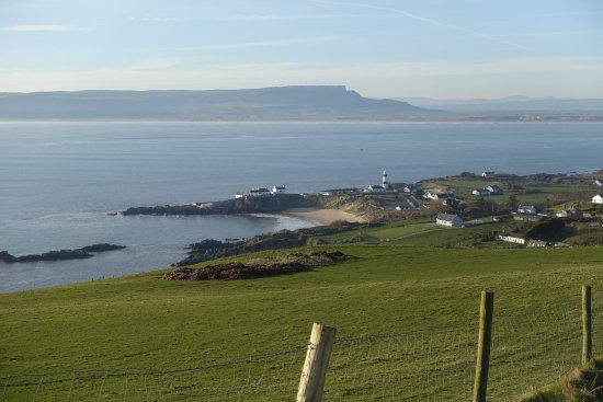 Greencastle, Ireland: View across Shroove and Lough Foyle to Magilligan Point
